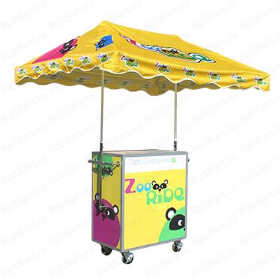 Промо стойка с зонтиком