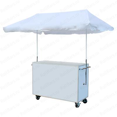 Торговая тележка без оборудования с зонтом