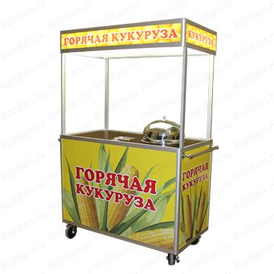 Торговая тележка ролл бар для вареной кукурузы