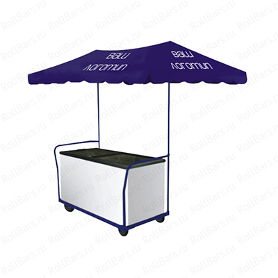 Торговая тележка для продажи мороженого