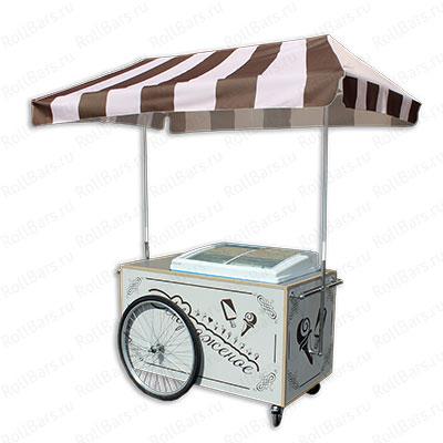 Торговая вело-бонета для продажи мороженого